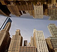 Chicago Cityscape downtown Millenium Park Michigan Avenue The Bean by pictureguy