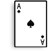 Spades: Ace Canvas Print