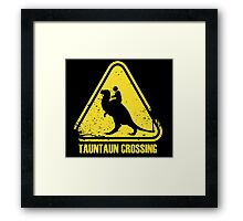 Beware! Tauntaun Crossing! Framed Print