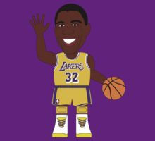 NBAToon of Magic Johnson, player of Los Angeles Lakers by D4RK0