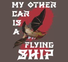 My Other Car is a Flying Ship (Black) by cadellin