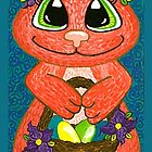 Miss Easter Bunny is here! by Lisa Frances Judd ~ Original Australian Art