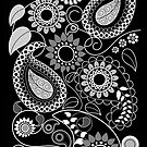 Paisly Patterns with Flowers, leaves &amp; Circles by walstraasart