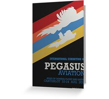 Pegasus Aviation Exhibition Greeting Card