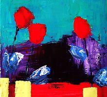 Three Blooms by BenPotter