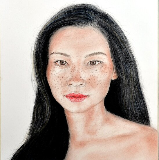 Sexy Freckle Faced Beauty Actress Lucy Liu by jimfitz