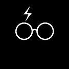 Harry Potter - Minimalist (Black &amp; White) by runswithwolves