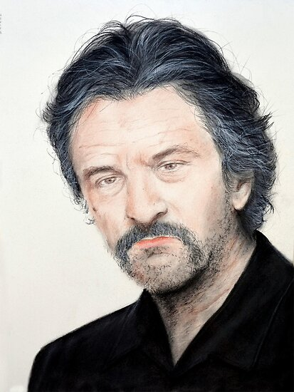 Portrait of Actor Robert De Niro in Jackie Brown by jimfitz