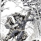 Wolverine vs Sabretooth by ickhwano
