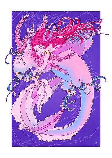 Axolotl Friend by NatashaDSaville