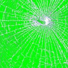 Broken Glass 2 iPad Green by Brian Carson