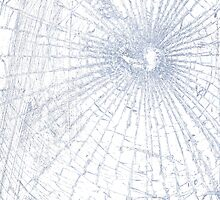 Broken Glass 2 iPad White by Brian Carson