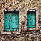 Green Shuttered Windows in Postach by jojobob