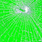 Broken Glass 2 iPhone Green by Brian Carson