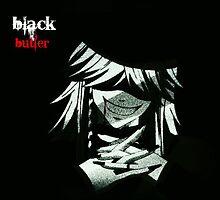 Black Buteler Kuroshitsuji Undertaker poster by ChibiRitz