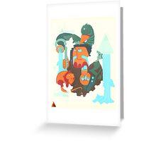mayan print 2 Greeting Card