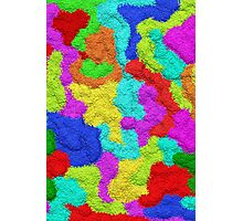 Psychedelic Glitter Pattern  Photographic Print