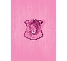 Hunting Series - The Pink Lion Head Photographic Print