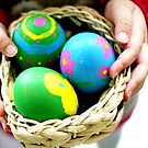 holding the easter eggs... by Gregoria  Gregoriou Crowe