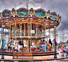 Merry-go-round in Honfleur - France by paolo1955