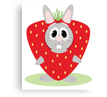 Strawberry Bunny Canvas Print