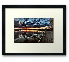 Wakamaw Valley Sunrise Moose Jaw Saskatchewan Framed Print