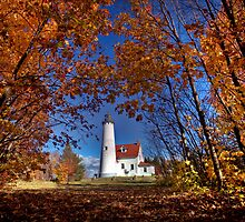 Lighthouse Northern Michigan Lake Superior Scenic by pictureguy