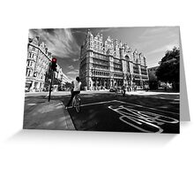Cycling in the City  Greeting Card