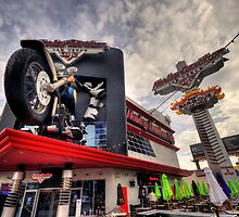 Harley Davidson Cafe  by Rob Hawkins
