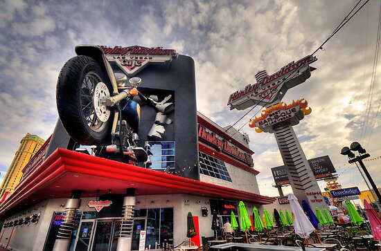 Harley Davidson Cafe  by Rob Hawkins