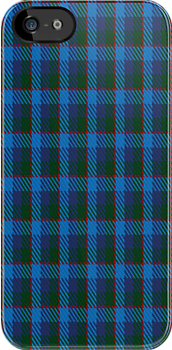 01245 Blue Yokan Fashion Tartan Fabric Print Iphone Case by Detnecs2013