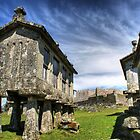 Lindoso granaries and the castle by vribeiro