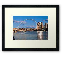 Gateshead Millennium Bridge on the River Tyne Framed Print