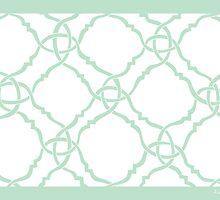 classic modern lattice pale mint green by aygeartist