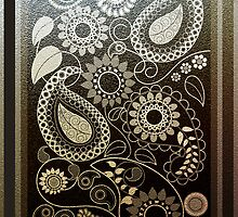 Paisley Patterns in faux Metals by walstraasart