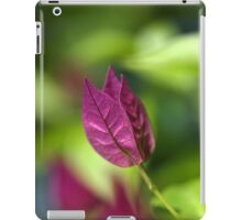 Bougainvillea over Tie Dyed Nature iPad Case/Skin