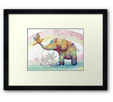 The Indigo Elephant Framed Print