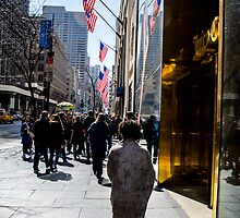 Homeless on 5th Avenue by Jean-Michel Dixte