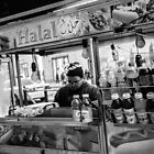 Street food vendor in NYC by Jean-Michel Dixte