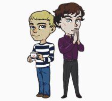 Sherlock Holmes and John Watson by Abitto