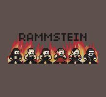 Rammstein 8-bit Flame T-Shirt