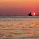 sailboat at sunset by lensbaby