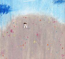 Wildflowers Hillside by Tine  Wiggens
