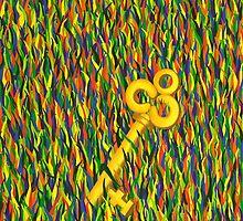 The Golden Key by Lisa Frances Judd~QuirkyHappyArt