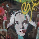 """Warhol Stencil Graffiti """"Mia Undone"""" by Punk60"""