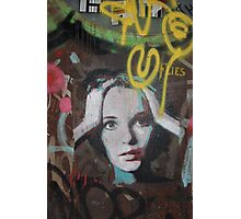 "Warhol Stencil Graffiti ""Mia Undone"" Photographic Print"