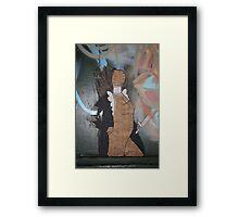 """Modern Graffiti - Paste Up Paper  """"Joan of Arc"""" Framed Print"""