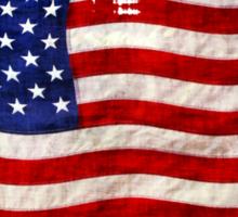 Tattered Grunge Patriotic USA Flag, United States Sticker