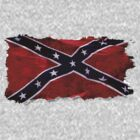 Confederate Flag Southern Cross Rebel Flag  by Val  Brackenridge