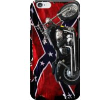 Cool Confederate Rebel Flag and Motorcycle iPhone Case/Skin